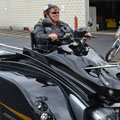 women biker in wheelchair